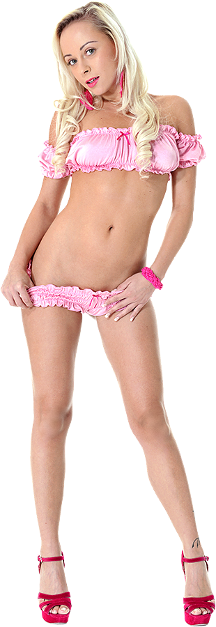 Naomi Nevena Silk Flower istripper model